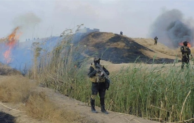چوار حەشارگەی داعش لە كەركوك خاپوركران